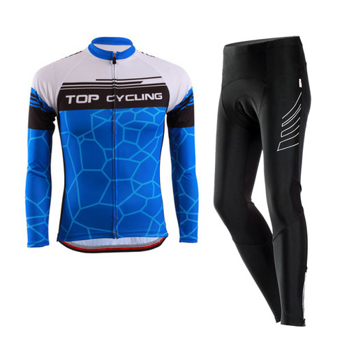 Topcycling topology riding equipment accessories mountain bike gas through the spring and autumn long sleeve jersey suit