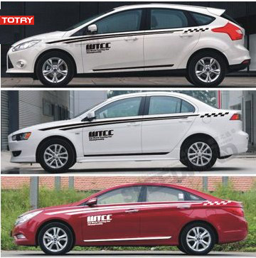 Totry all applicable models the whole car stickers car stickers garland modified car stickers affixed to the vehicle waistline stickers