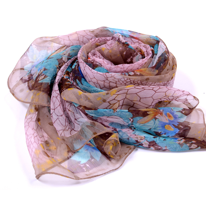 Towel whitewash good gift box korean version of the korean version of a long paragraph silk scarf female spring and winter scarves printed scarf shawl