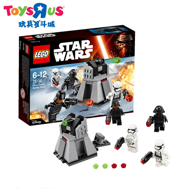 Toys r us toy lego 75132 star wars pervaya命令fight inserted blocks lego battle suit