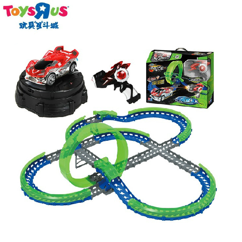 Toys r us upgrade refueling audi double diamond waved coaster track racing car waving induction racing suit