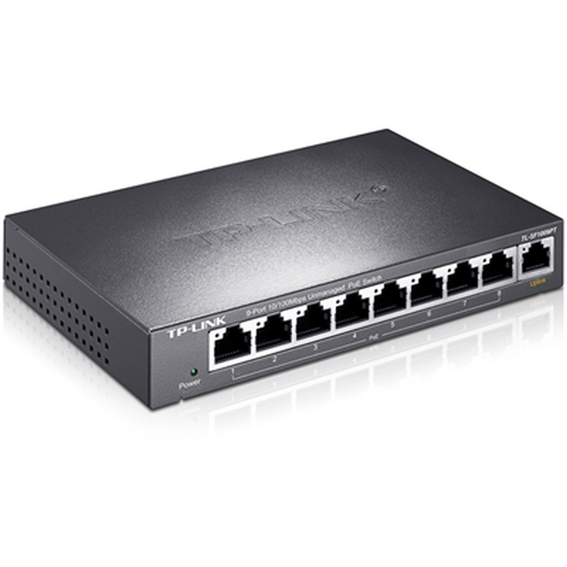 Tp-link TL-SF1009PT 9 mbps unmanaged poe switch 8 poe power supply