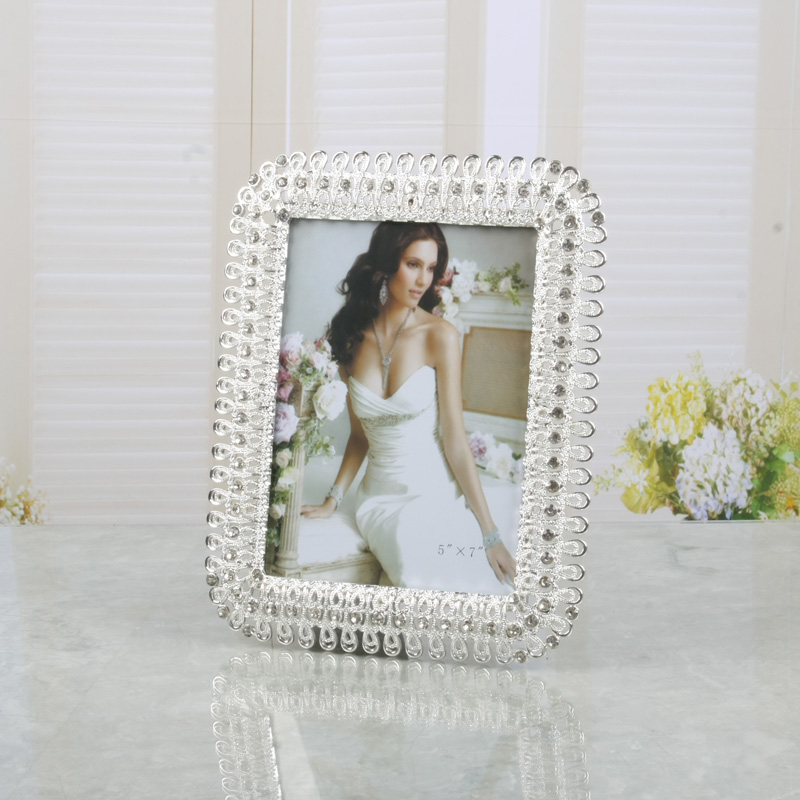 Tqj/6 inch/7 inch/inch 10 european modern minimalist rectangular metal frame/wedding photos of life Picture frame/71