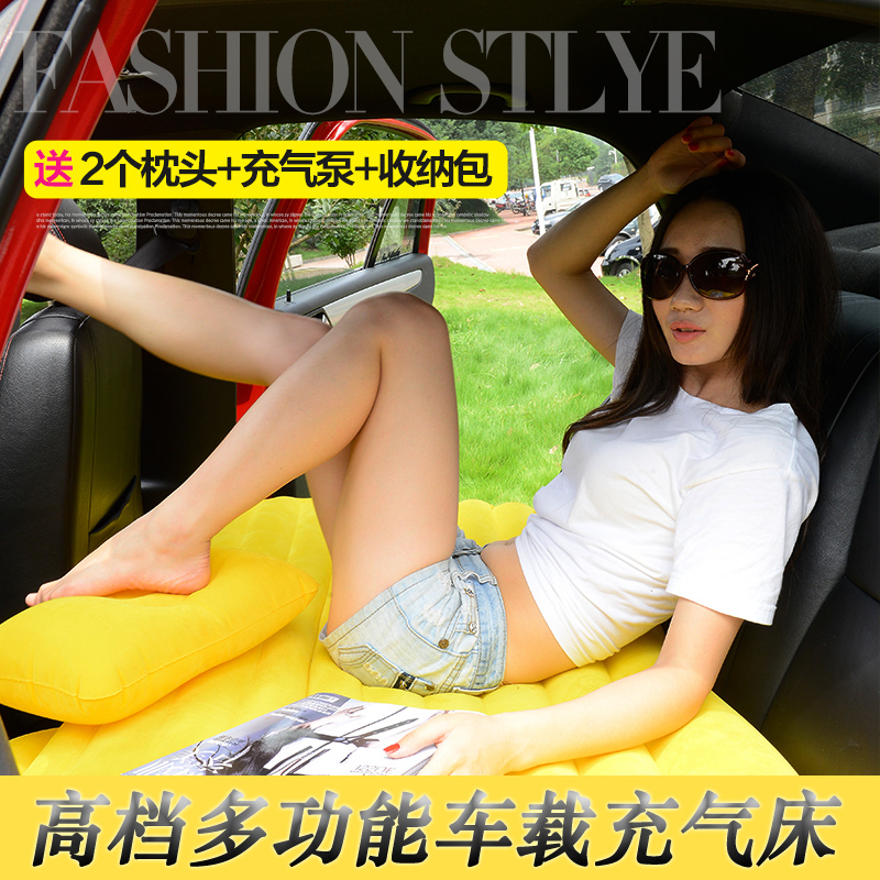Travel bed car bed inflatable car shock bed new models with black flocking inflatable pillow pump
