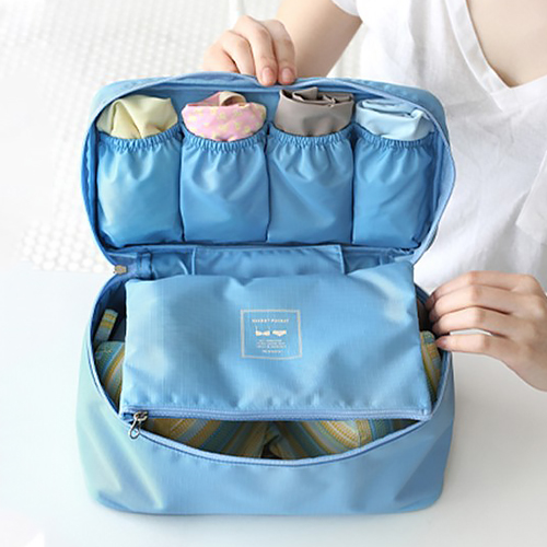 Travel multifunction underwear storage bag bra wash bag cosmetic bag waterproof pouch bags of clothing finishing