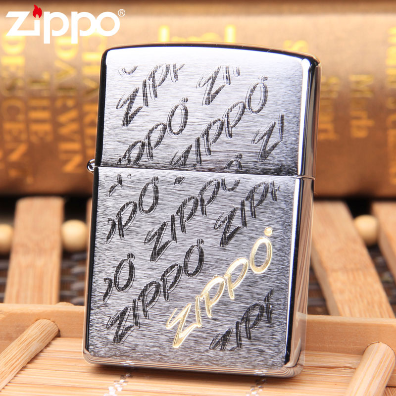 Treasure genuine zippo lighter brushed chrome classic signs zippo counter genuine windproof 28642