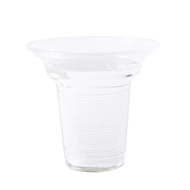 Trumpet flower disposable tea cups disposable transparent plastic pudding cup milk cup cold drink cup can be sealed 1000