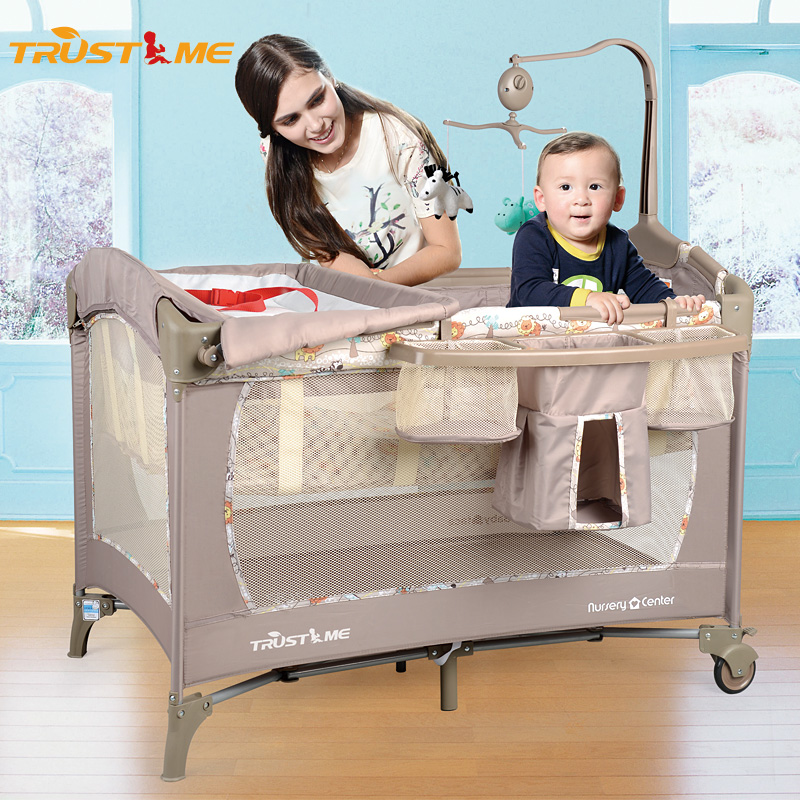 Trustme hercribon euclidian multifunction folding portable crib playpen bb bed children's bed baby bed cradle bed