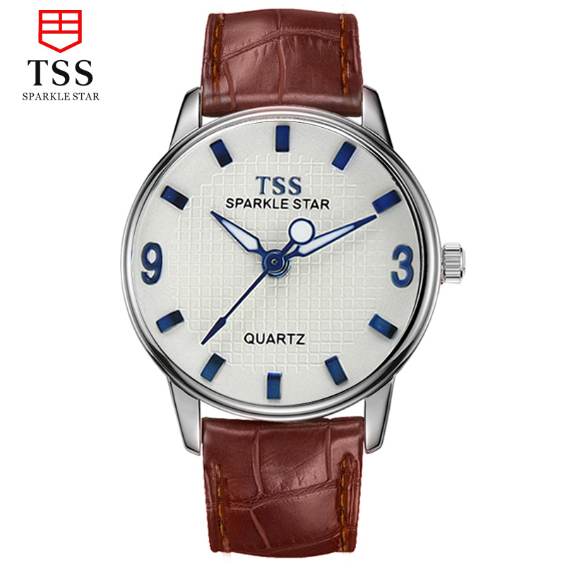 Tss days thinking fashion watches students watch korean fashion watches for men whole self real leather belt quartz watch