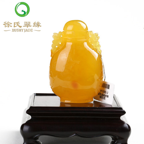 Tsui tsui edge jewelry natural baltic amber beeswax snuff bottle ornaments ornaments with a certificate