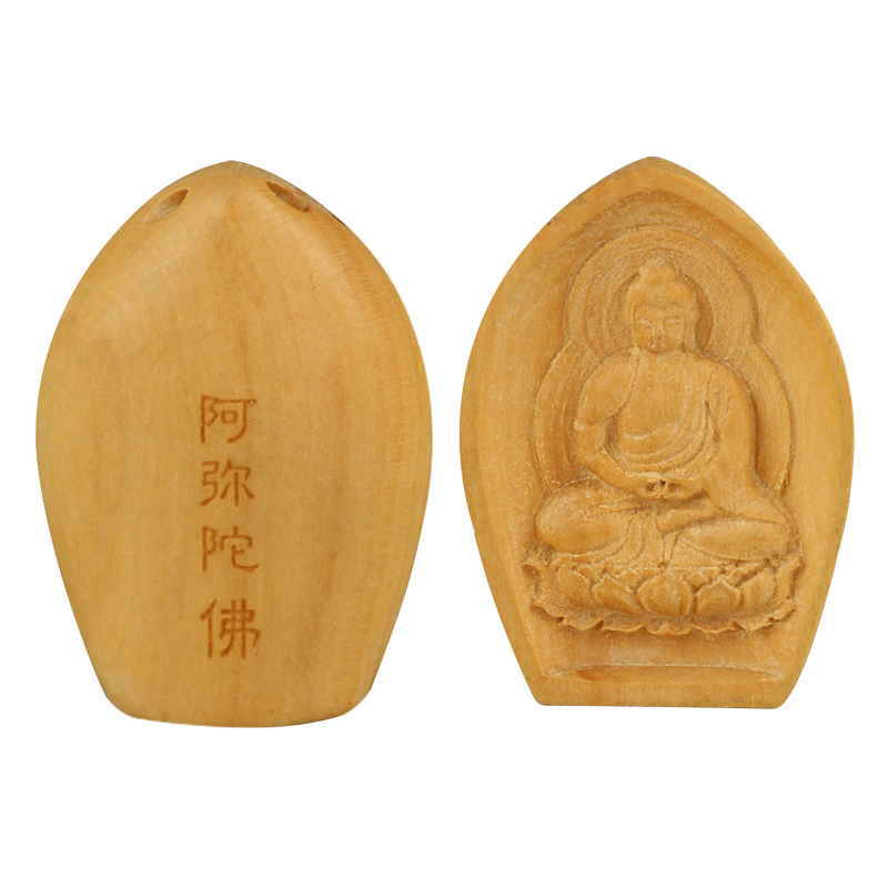 Tsz edge hall lobular boxwood hand carved pieces of wood carving pendant natal buddha pendants crafts pieces