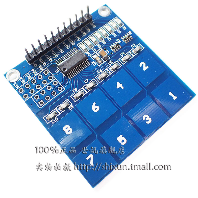 Ttp2268 8 road capacitive touch switch digital touch sensor module