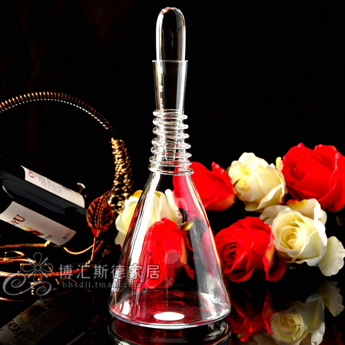 Turkish pasha imported handmade unleaded glass of red wine jug wine decanters points wine pourer
