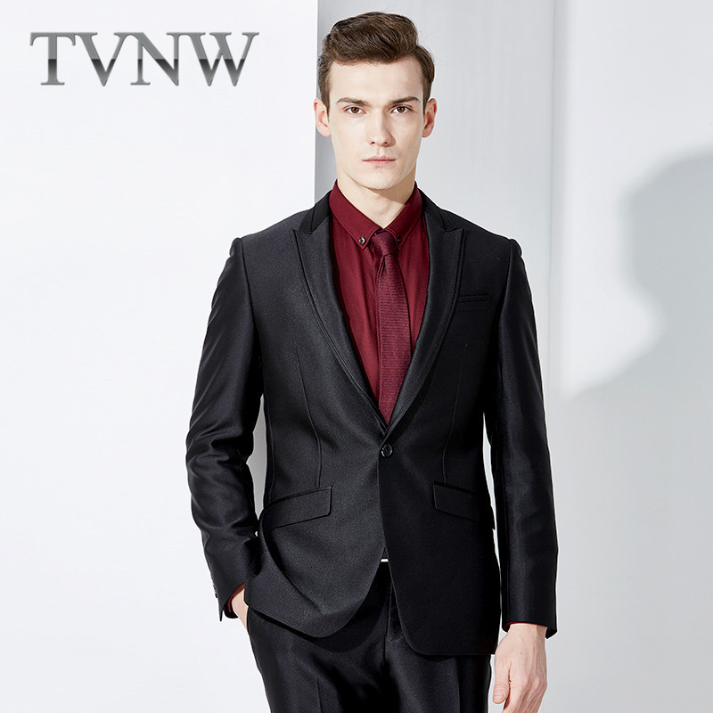 Tvnw 2016 new men's suits slim business suits wedding dress and groom suit 2305