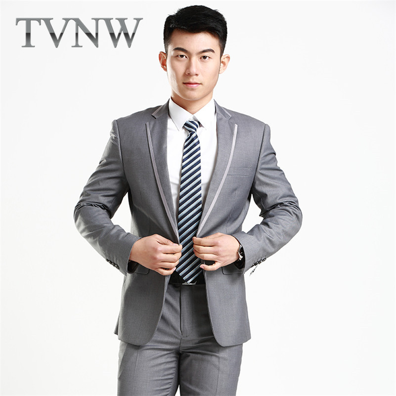 TVNW2016 gentry new business casual collar men's suits slim suit groom wedding dress with disabilities 5715