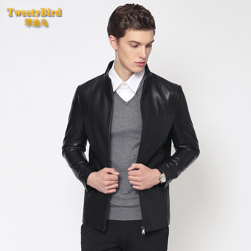 Tweety bird 2016 new winter men's business casual fashion trend of young men's short paragraph slim coat on