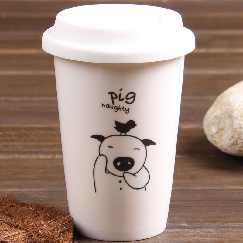 Twelve zodiac ceramic cup double insulated百鸿watercups personal cup ceramic cup mug couple cups dy