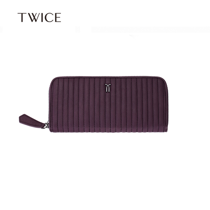 Twice ms. counter genuine ms. long wallet clutch leather wallet genuine leather card package