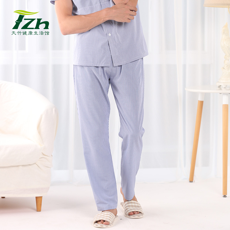 1e01231309da3 Get Quotations · Tzh bamboo fiber spring and summer pajama pants men casual trousers  loose big yards pants home