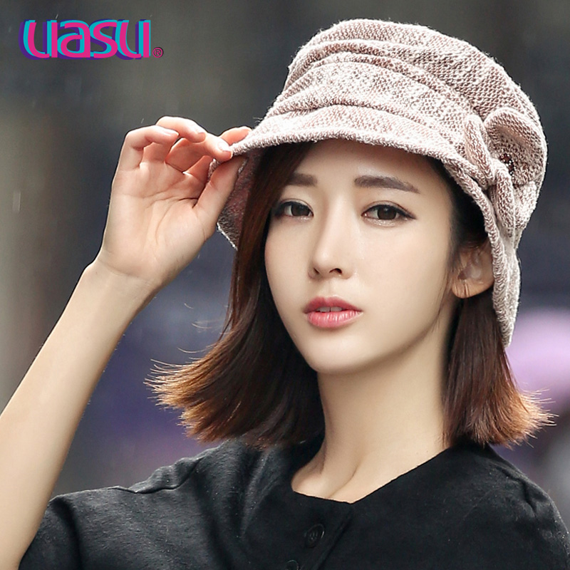 Get Quotations · Uasu korean version of the autumn and winter leisure hat  bucket hats fashion hats ladies layers fa2a77690184