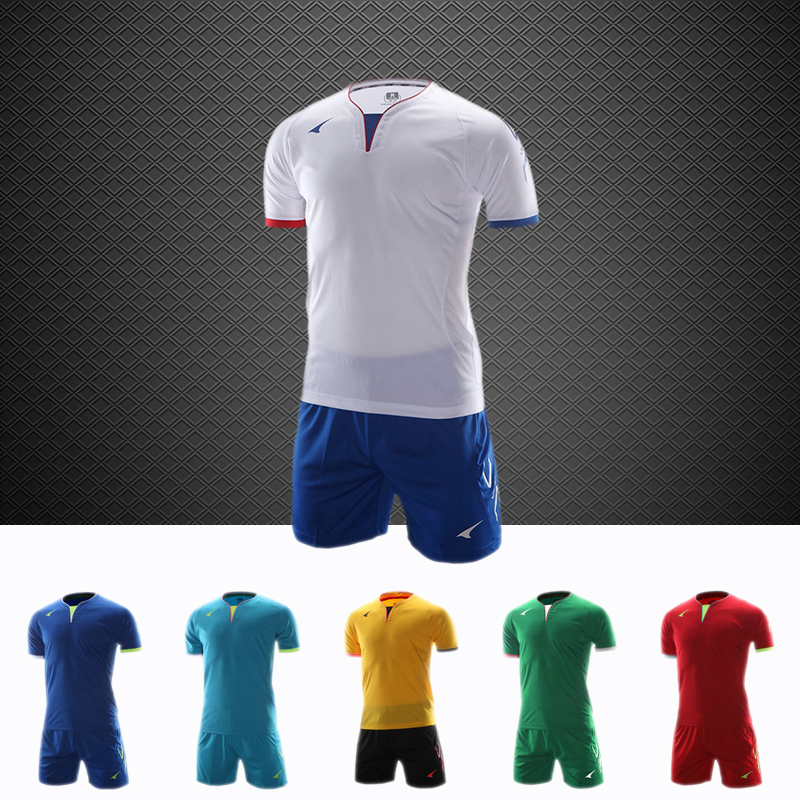 Ucan rui grams soccer jersey short sleeve football clothes suit light board soccer team jersey dress custom male s04102