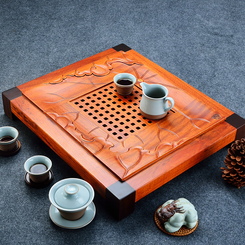 Ugyen wood kung fu tea tray tea tray tea tray ebony wood tea tray kung fu tea wood tea sea tea sets special