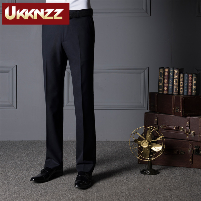 Ukknzz custom 2016 new spring and summer men's business suits wool trousers blue work pants