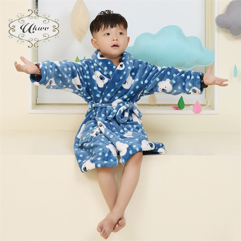 59a1a67e87f8 Get Quotations · Ukwv autumn and winter children s sleepwear nightgown  bathrobe boys and girls children of men and women