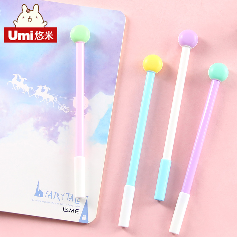 Umi korea cute gel pen pen creative stationery small fresh candy color cartoon school students with pen black pen