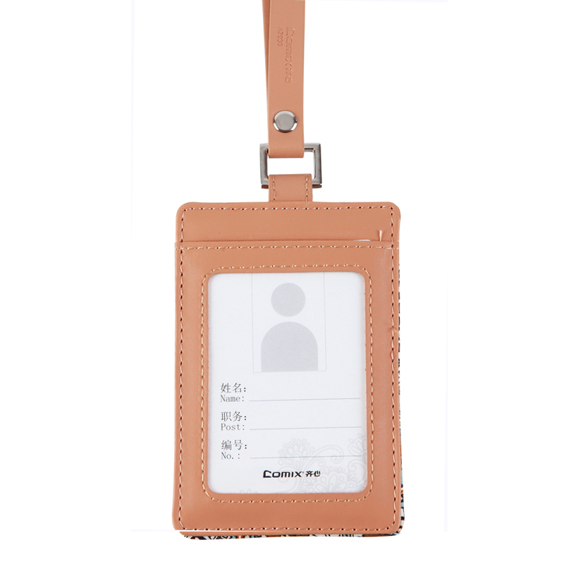 United A7930 color vertical leather badge holder student id card access control card work card sets bus card sets