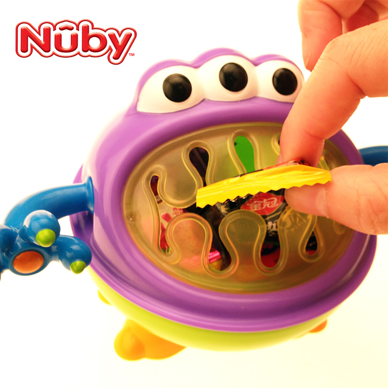 United states nuby nubi baby baby child tableware bowl little monster snack box storage box material food storage cans