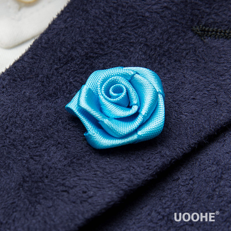 Uoohe textured silk rose flower brooch korean men's fashion brooch pin brooch clasp jewelry wild