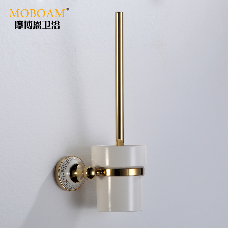 Upscale european retro bathroom toilet brush laundry and head full of copper and gold rose gold toilet cup toilet toilet toilet brush holder specials