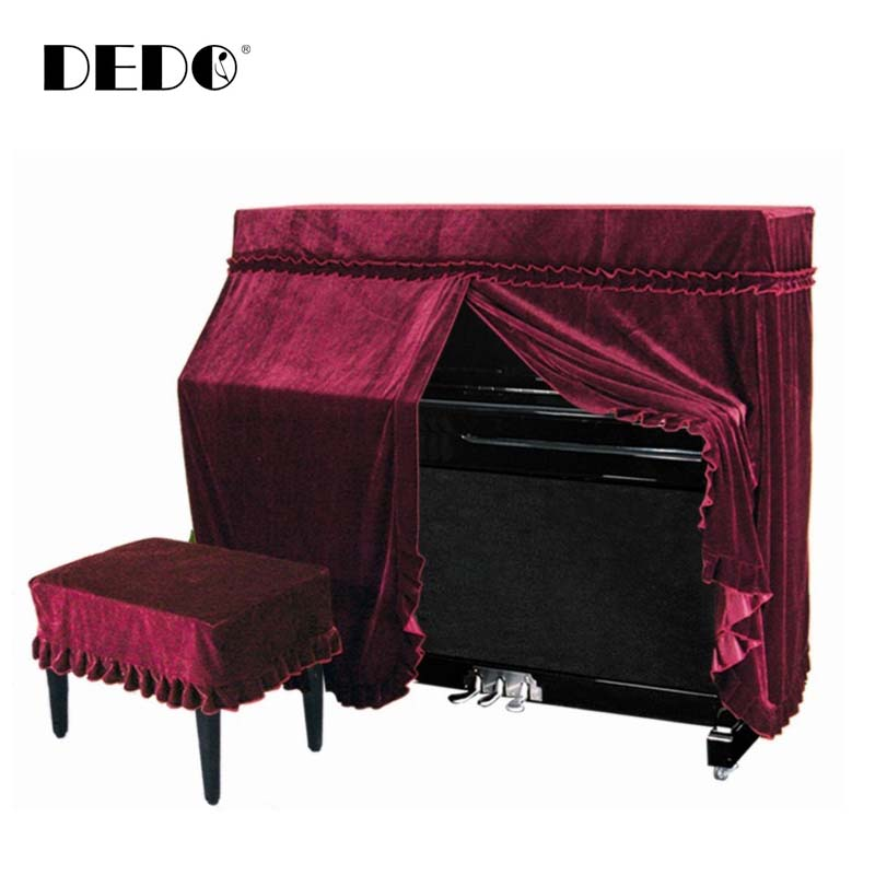 Upscale gold velvet piano cover/piano cover half full cover piano cover piano stool cover dust cover with free shipping
