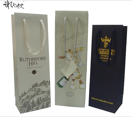 Upscale single branch wine bag hand bag bags advertising bag cosmetics packaging customized production