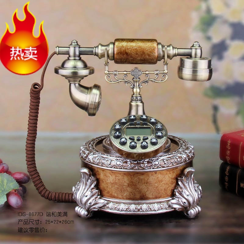Upscale vintage antique telephones european retro fashion creative pastoral household ancient dong craft personalized phone