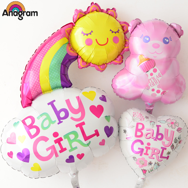 Us anagram aluminum foil rainbow baby hundred days 100 days full moon wine bear party decoration aluminum balloons
