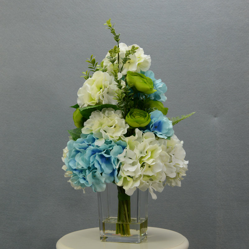 Us caused blue hydrangea flowers artificial flowers silk camellia upscale artificial flowers artificial flowers floral ornaments living room furnishings artificial flowers