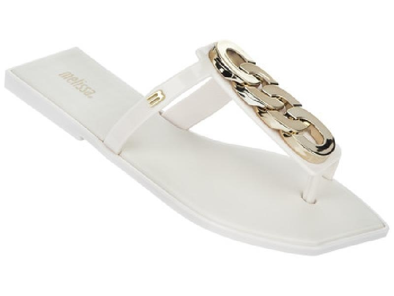 0130a914a444 Get Quotations · Us direct mail melissa melissa 31493-1664 ms. metal chain  thong sandals flat