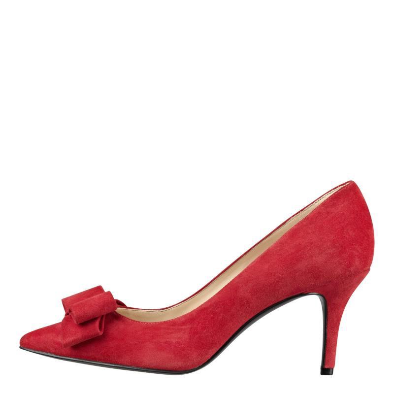 2267a1500bae Get Quotations · Us direct mail nine west nine west 18538448 turn fur suede  leather shoes red bow