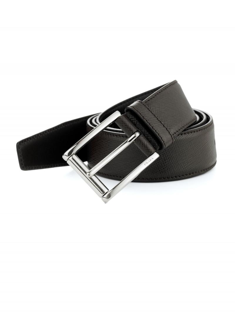 Us direct mail prada/prada S06095K classic cross pattern leather belt business men free shipping