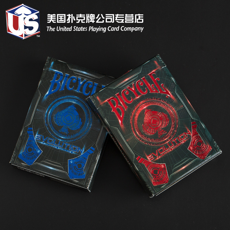 Us imports of evolution evolution bicycle bicycle bicycle poker cards poker classic red/blue bronzing