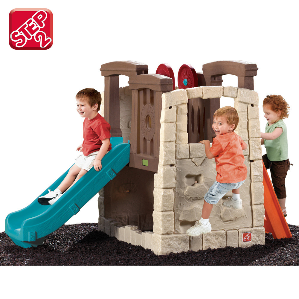 Us imports step2 multifunction climbing slide combination castle nursery indoor and outdoor toys