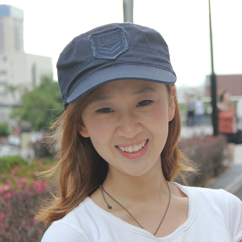 Get Quotations · Us letter dc models spring and summer fashion korean  version of the retro fashion cap visor cffecfe6172