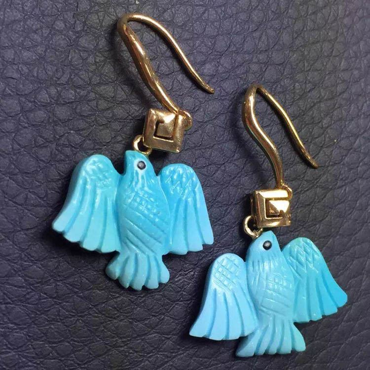 Us natural turquoise earrings natural blue turquoise earrings