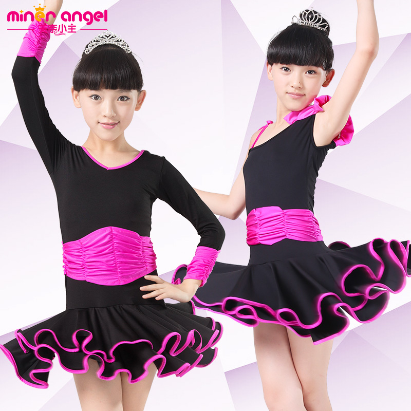 Us nye children latin girls latin dance skirts and children's clothes and latin dance clothing female children's latin dance costume