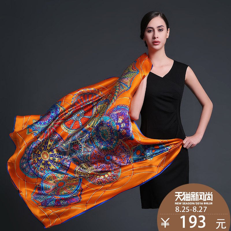 Us rui taman 2015 new autumn and winter large square silk scarf female silk scarf scarf shawl europe and america