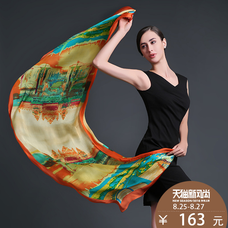 Us rui taman 2015 new silk scarf female silk scarf silk shawl autumn and winter long section