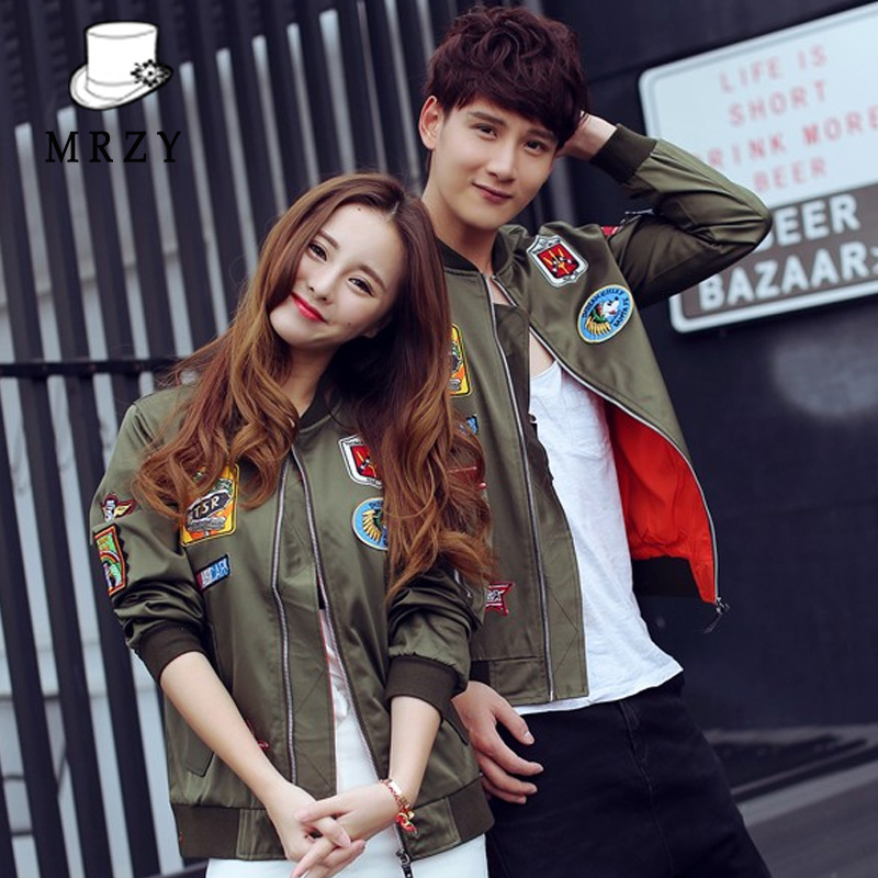 Us sage clothing spring badge embroidered baseball jacket male korean slim jacket army green jacket for men and women