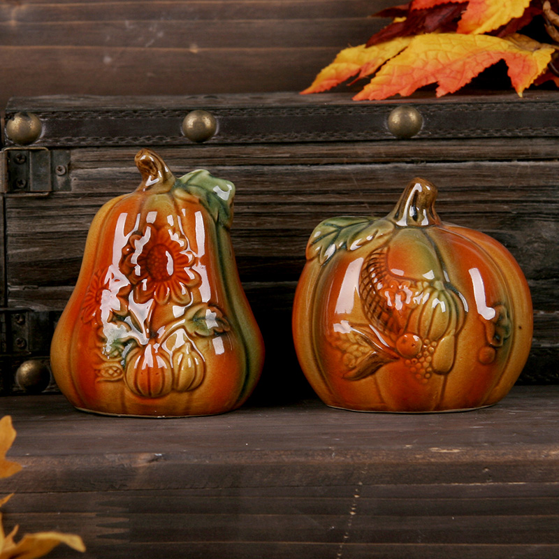 Ushop contadino wind bumper thanksgivings ceramic pumpkin ornaments exquisite gift ideas holiday decorations